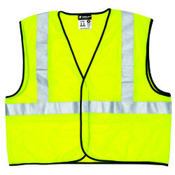 Large High Visibility Mesh Vest - Lime