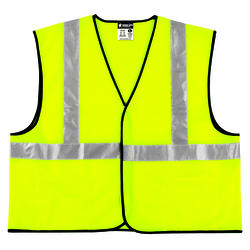 Large High Visibility Vest - Lime