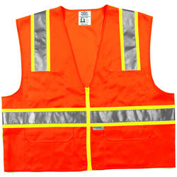 Large High Visibility Surveyor Vest - Orange