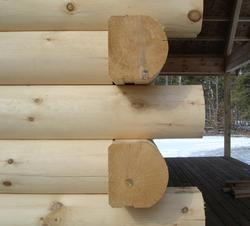 "Meadow Valley 8"" x 8"" x 10' White Pine Smooth D-Style Full Log"