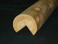 "Meadow Valley 6"" x 8' White Cedar Rustic Hewn V-Notched Corner Log"