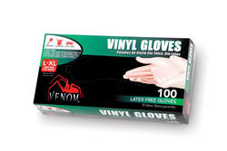 Venom L/XL Powdered Vinyl Gloves - 100-ct
