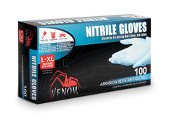 Venom L/XL Powder-Free Nitrile Gloves - 100-ct