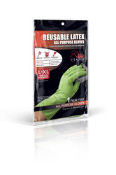 Venom L/XL Reusable All-Purpose Latex Gloves - 1 pair