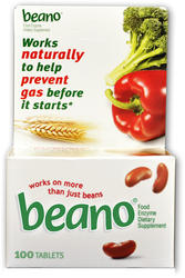 Beano Food Enzyme Dietary Supplement Tablets - 100 ct.