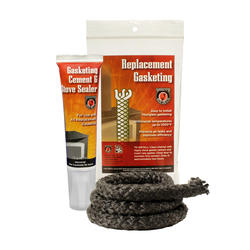 "Black Rope Gasketing Kit - 1/2"" x 6' Rope & Cement"
