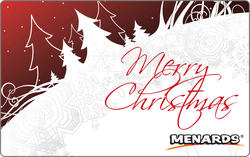 Menards Gift Card - Merry Christmas