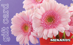 Menards Gift Card - Pink Flower