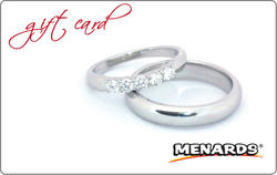 Menards Gift Card - Wedding Ring
