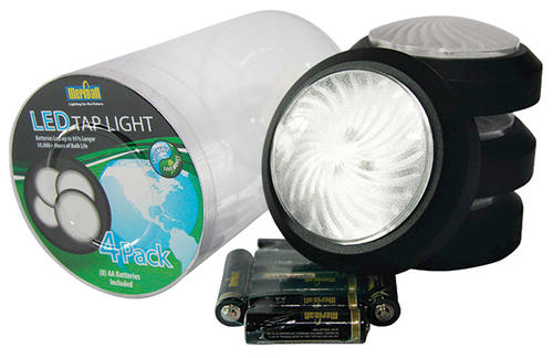 Meridian Battery-Operated LED Tap Lights (4-Pack) at Menards