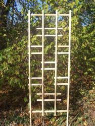 "24"" x 72"" White Ladder Trellis"