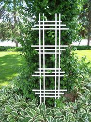 "24"" x 72"" White Ladder Trellis"