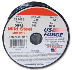 70S-6 Solid Mild Steel MIG Wire .035 (2 lbs.)