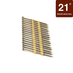 """Grip Fast 2-3/8"""" x .113 21° Ring Shank Full Round Head Nail - 2,500 Pieces"""