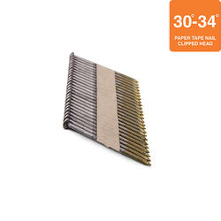 """Grip Fast 2-3/8"""" x .113 30-34° Ring Shank Clipped Head Nail - 2,500 Pieces"""