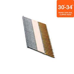 """Grip Fast 2-3/8"""" x .113 30-34° HDG Ring Shank Clipped Head Nail - 2,500 Pieces"""