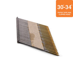 """Grip Fast 3"""" x .120 30-34° Smooth Shank Clipped Head Nail - 2,000 Pieces"""