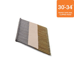 """Grip Fast 3"""" x .120 30-34° HDG Ring Shank Clipped Head Nail - 2,000 Pieces"""