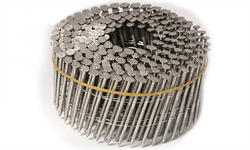 "Grip Fast 2-3/16"" x .092 15° Stainless Steel Ring Shank Wire Collated Nail - 600 Pieces"
