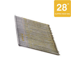 """Grip Fast 3-1/2"""" x .131 28° Smooth Shank Clipped Head Nail - 2,000 Pieces"""