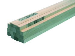 "3/16"" x 3/16"" x 24""  Craft Basswood (4-Pack)"