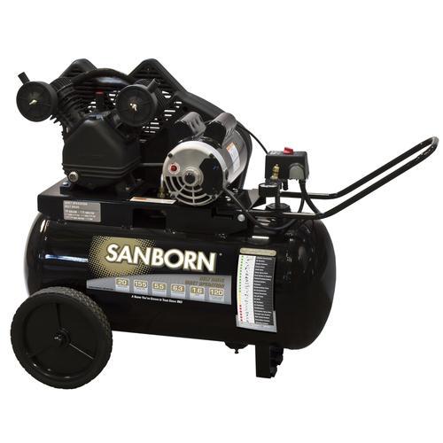 Sanborn 20-Gallon Horizontal Portable Air Compressor at