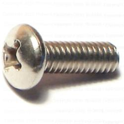 "Grip Fast #8-32 x 1/2"" Phillips Pan Machine Screw Stainless - 9 pcs/box"