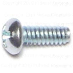 """6-32 x 3/8"""" Phillips Round Machine Screw - 5 pcs."""