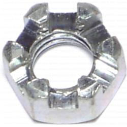 "3/8""-16 Coarse Slotted Hex Nuts - 12 pcs/box"