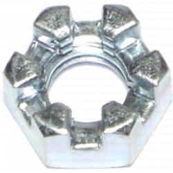 """7/16""""-14 Coarse Slotted Hex Nuts - 8 pcs/box"""