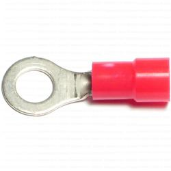 8 Gauge Insulated Ring Terminals - 12 pcs/box