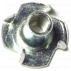 6mm-1.00 x 12mm T-Nuts - 10 pcs/box