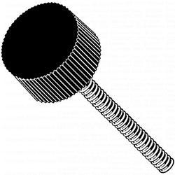 8mm-1.25 x 40mm Stud Male Threaded Knurled Knob - 4 pcs/box