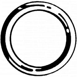 "6-3/4"" x 7"" X-Large Rubber O Ring - 4 pcs/box"
