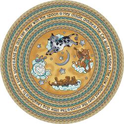 "Milliken Round Hey Diddle Area Rug 7'7"" x 7'7"""