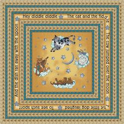 """Milliken Square Hey Diddle Area Rug 7'7"""" x 7'7"""""""