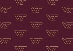 "Milliken College Logo Repeat Area Rug 3'10"" x 5'4"""