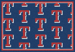 "Milliken MLB Logo Repeat Area Rug 7'8"" x 10'9"""