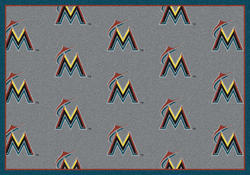 "Milliken MLB Logo Repeat Area Rug 7'8"" x 10'9"""
