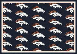 """Milliken NFL Logo Repeat Area Rug 7'8"""" x 10'9"""""""
