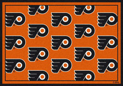 "Milliken NHL Logo Repeat Area Rug 7'8"" x 10'9"""