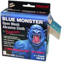 "2"" W x 10 yds L Blue Monster Mesh"