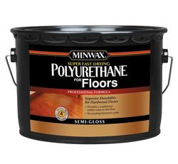Minwax Super Fast-Drying Clear Semi-Gloss Polyurethane - 2.5 gal.