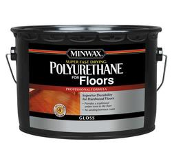 Minwax Super Fast-Drying Clear Gloss Polyurethane - 2.5 gal.