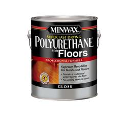 Minwax Super Fast-Drying Clear Gloss Polyurethane for Floors - 1 gal.