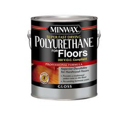 Minwax Super Fast-Drying Clear Gloss 350-VOC Polyurethane for Floors - 1 gal.