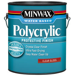 Minwax Polycrylic Clear Gloss Protective Finish - 1 gal.
