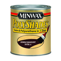 Minwax PolyShades Satin Bombay Mahogany Stain & Polyurethane - 1/2 pt