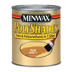 Minwax PolyShades Satin Pecan Stain & Polyurethane - 1/2 pt