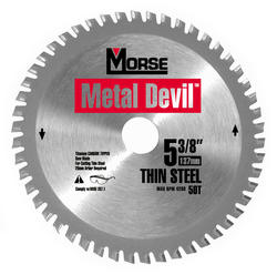 "5-3/8"" x 50 Tooth Circular Blade for Thin Steel"